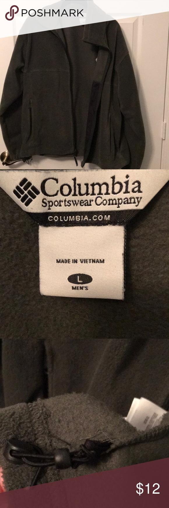 Olive green fleece jacket shirt jacket and columbia