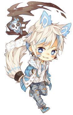 Chibi Wolf Boy Cute Anime Chibi Anime Chibi Kawaii Anime