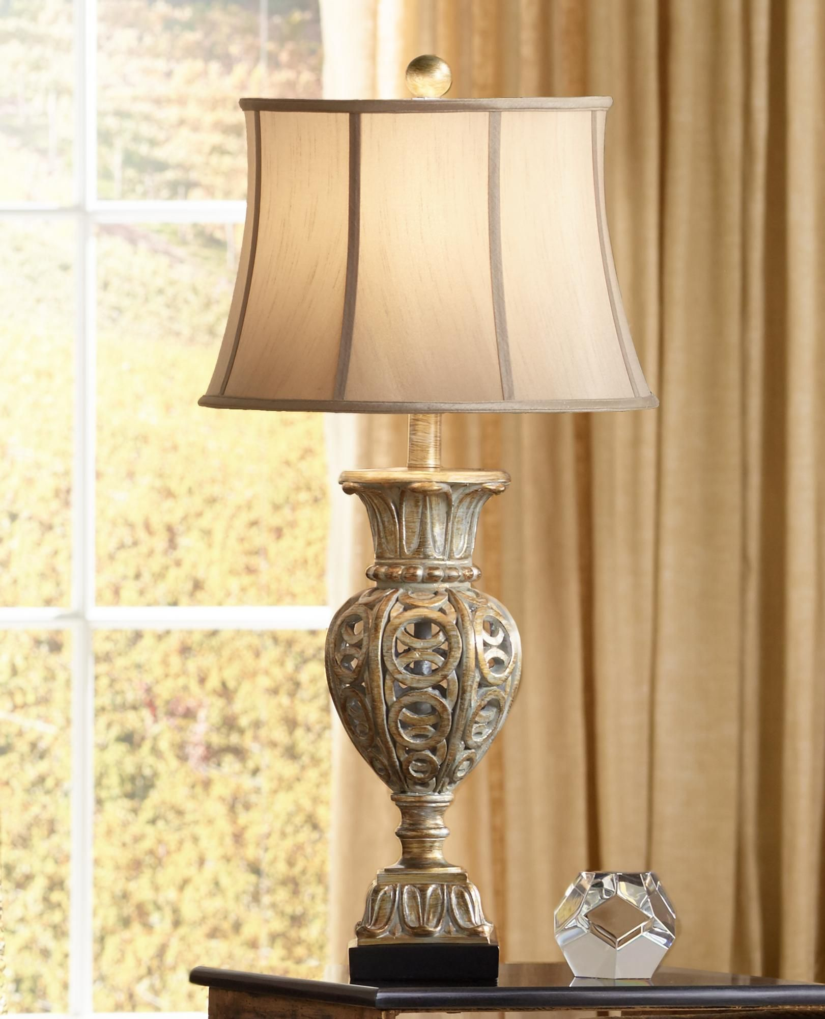 34 5 H Grand Rue Washed Gold Table Lamp Gold Table Lamp Table