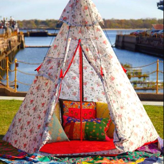 Unique floral teepee, so cute and tribal!