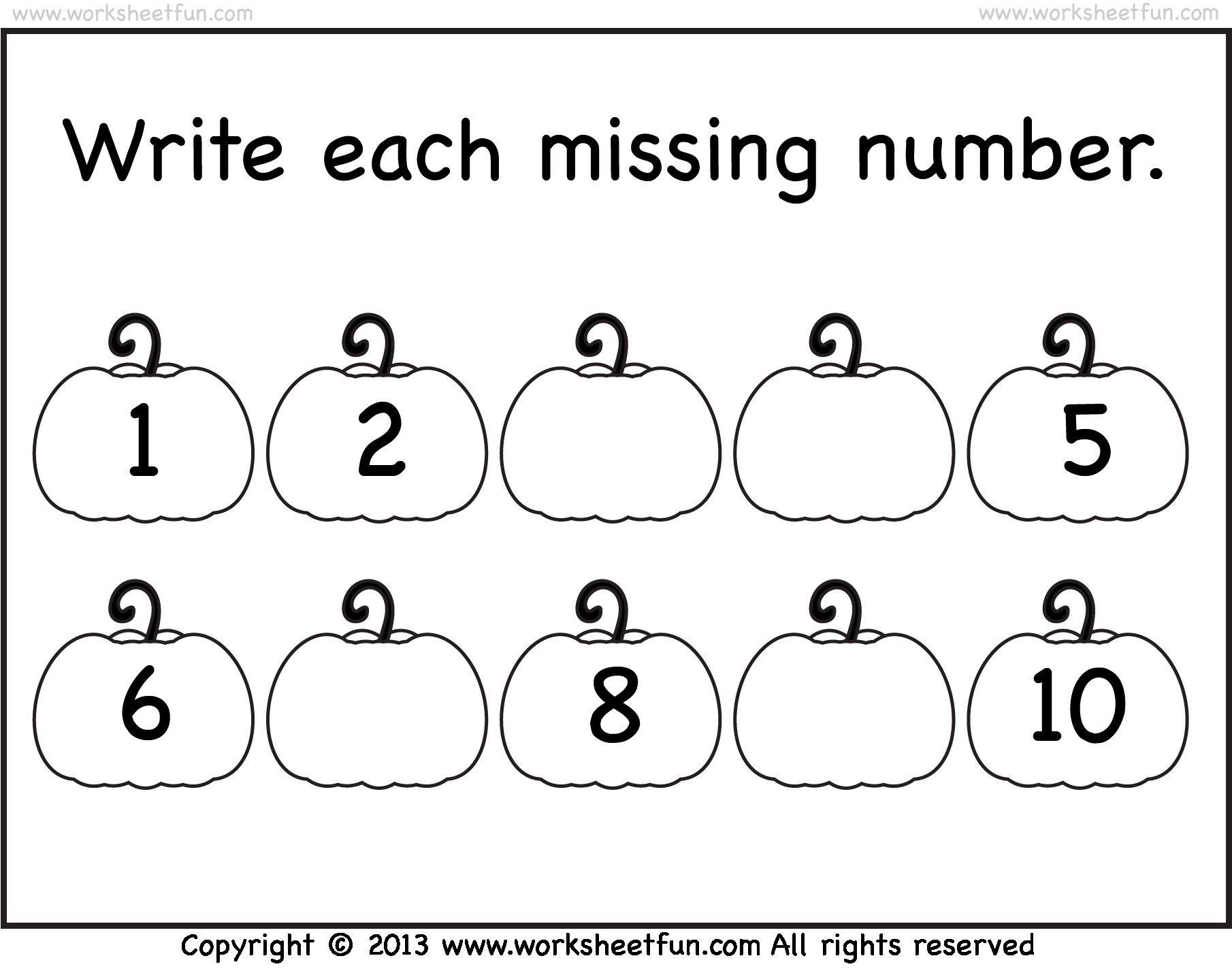 Image Result For Number 1 To 10 Worksheet For Preschool
