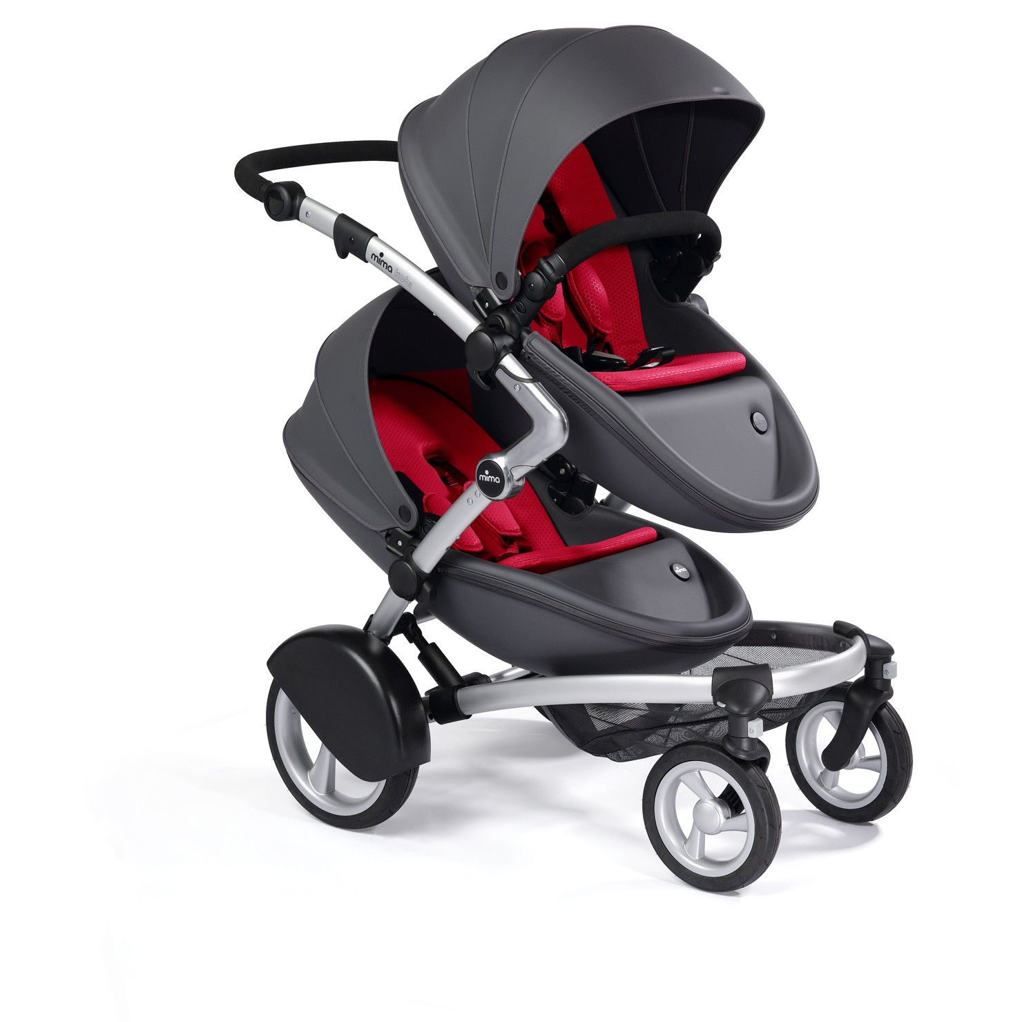 Mima Kobi Twin Seat Dark Grey including the second seat