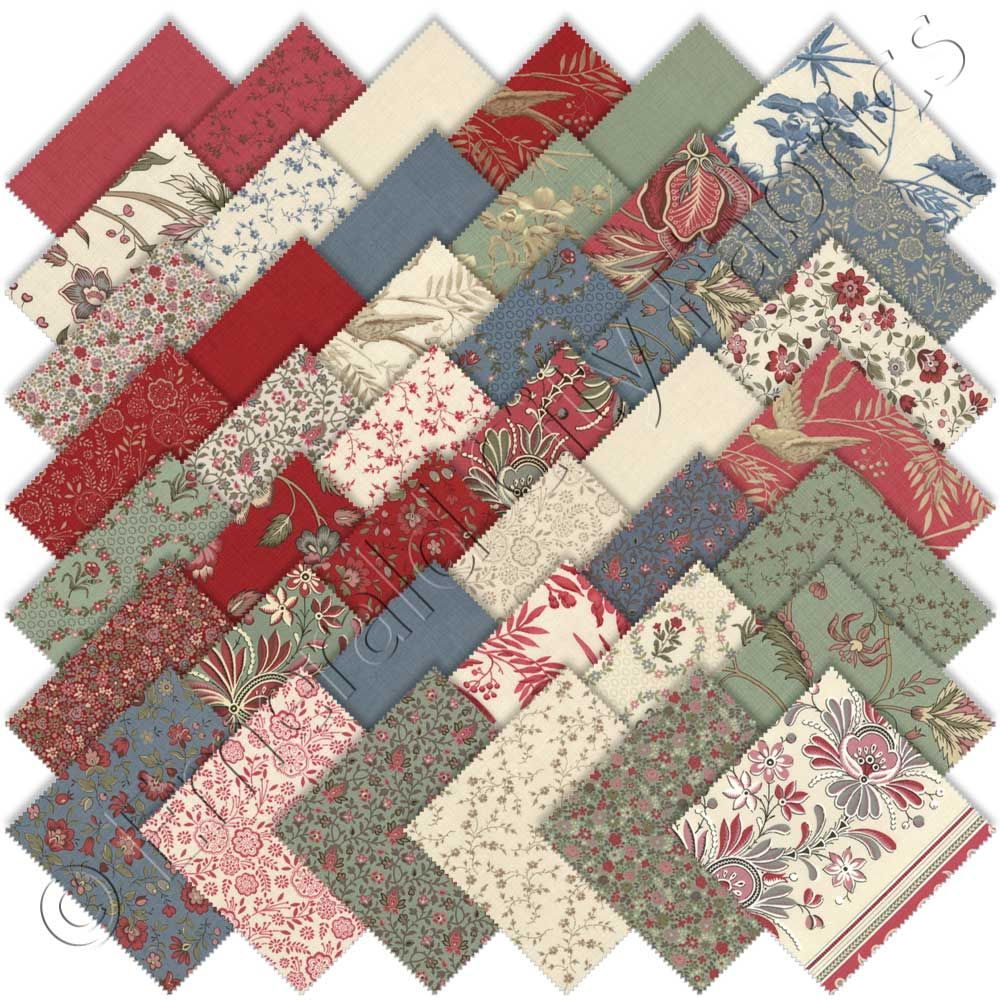 Fabric Bundle French Chateau Vintage Mothers Day