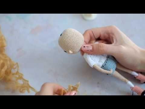 Амигуруми кукла. Как связать куклу. Уши. Crochet amigurumi doll - YouTube #crochetdoll