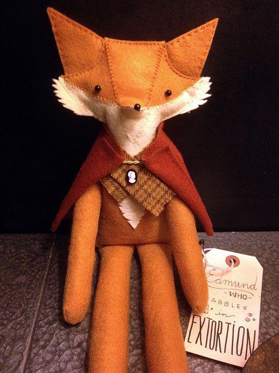 Ooak Fox Plush Woodland Animal Made To Order Fox Plush Fox Stuffed Animal Fox Crafts