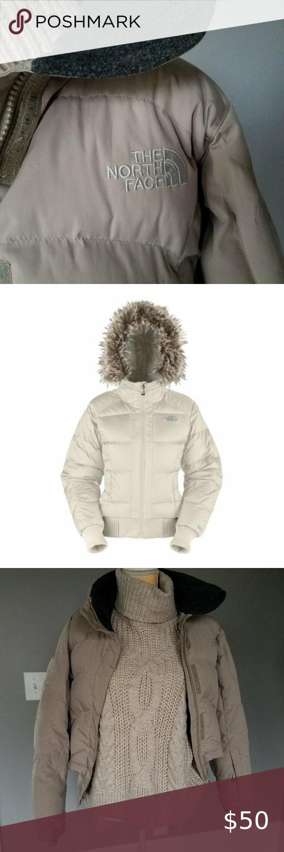 North Face Coat Ski Jacket Beige Small S Hooded North Face Coat Ski Jacket Jacket Design [ 1740 x 580 Pixel ]