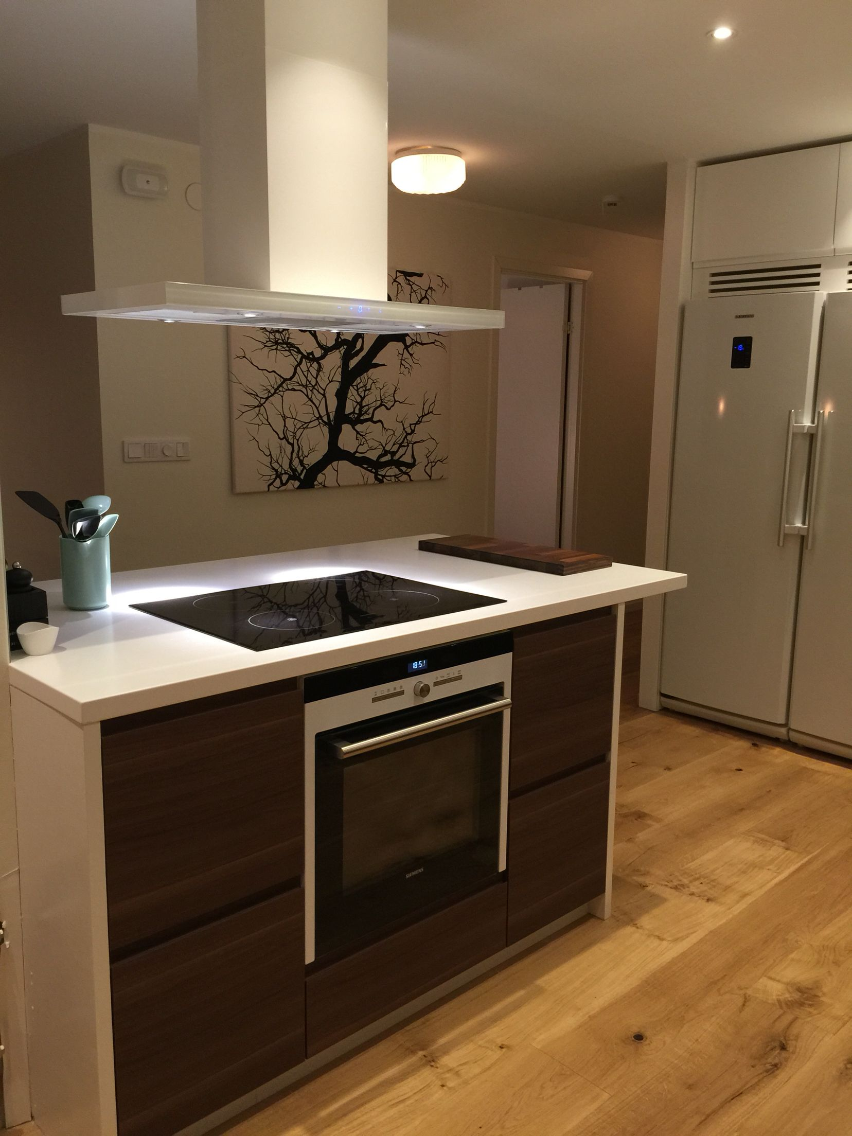 Ikea voxtorp chestnut kitchen   From 70-ties to contemporary   Pinterest