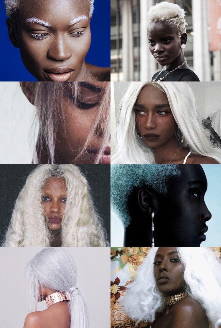 Blonde afro black girl