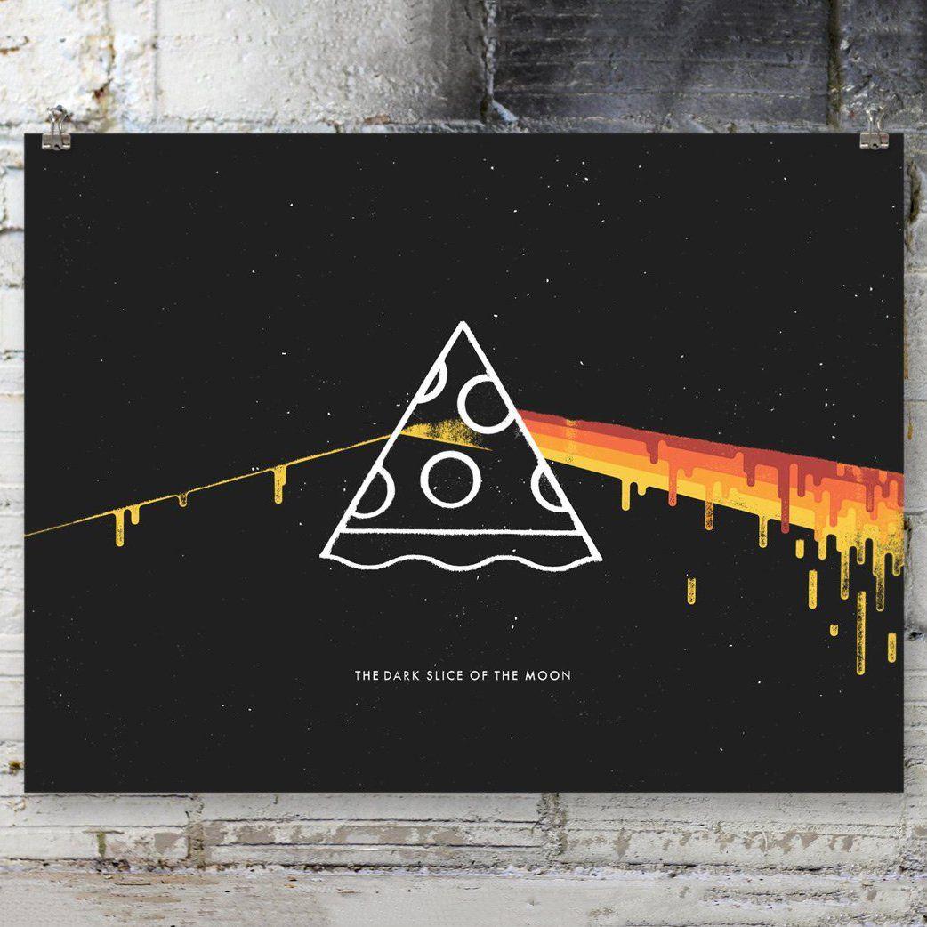 Fancy - Dark Slice of the Moon Screen Printed Poster