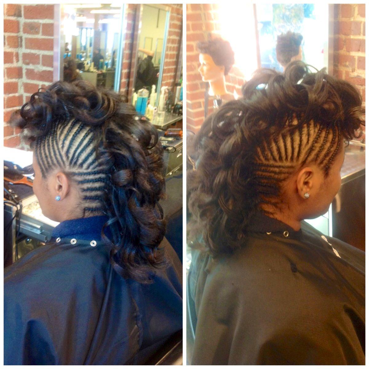 natural hair curly mohawk