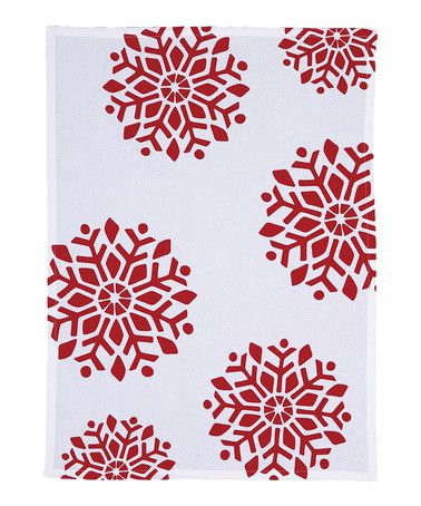 Take a look at this Joy Big Snowflake Kitchen Towel - Set of Two by Domestic Goddess: Aprons & Dishtowels on #zulily today!