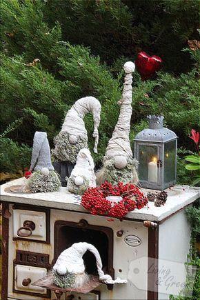 wichtel aus beton diy weihnachtsdekoration wichtel aus beton diy kreativ diy. Black Bedroom Furniture Sets. Home Design Ideas