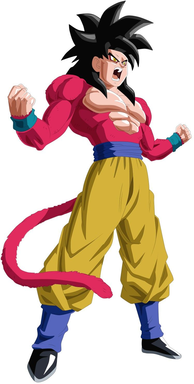 Goku Ssj 4 Personajes De Dragon Ball Dibujos Dragon Ball Gt