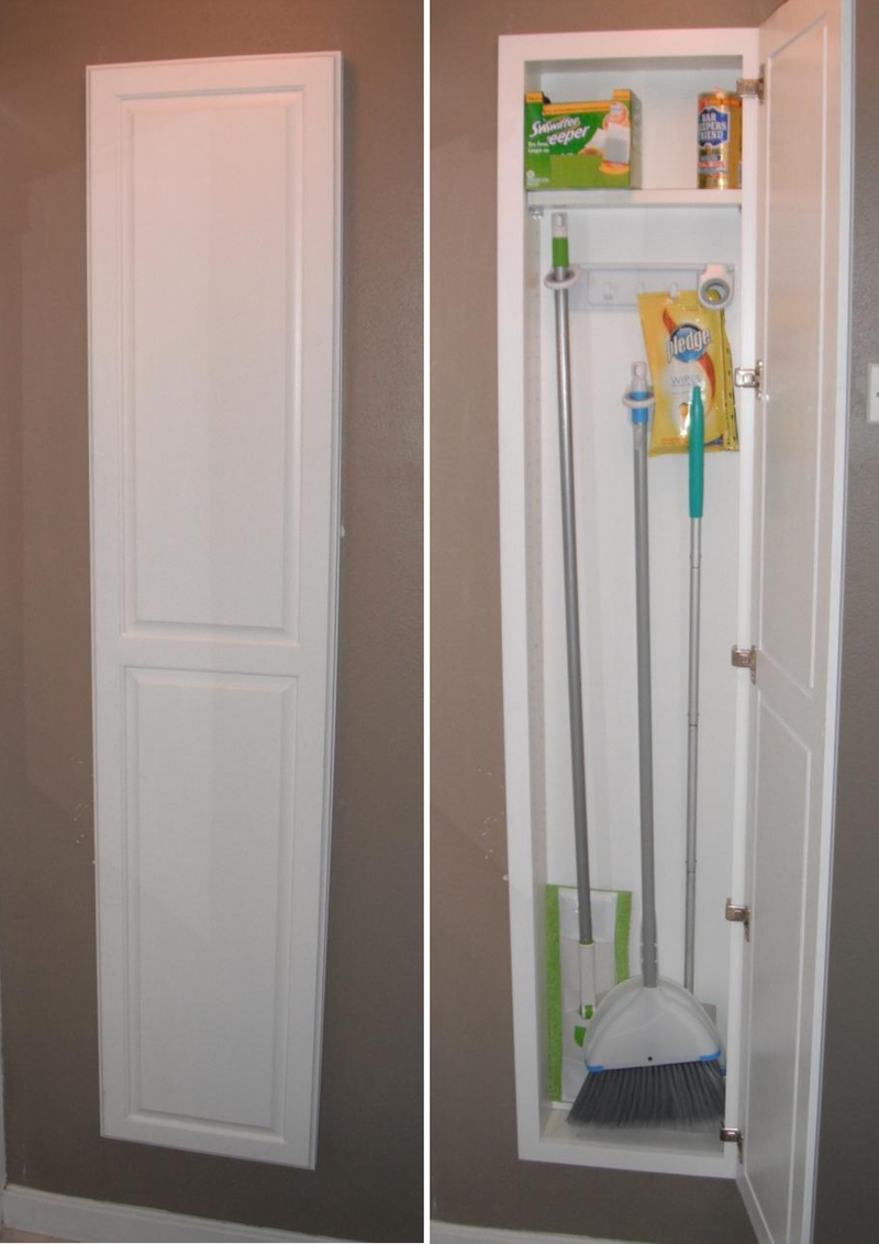 Cleaning Supplies Especially Brooms Mops And Vacuums Might Be Some Of The Kitchen Organizationstorage Cabinets