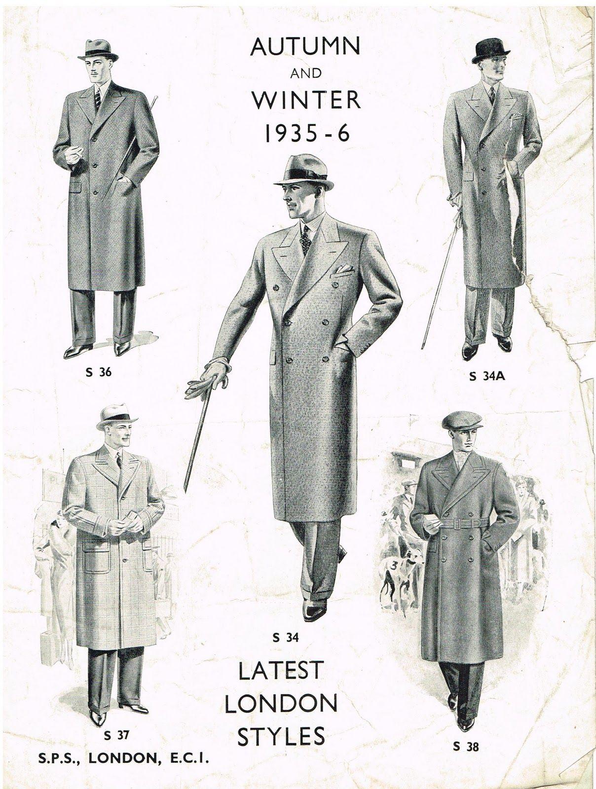 Men S Overcoats Still Look Great Hipster Mens Fashion Vintage Men 1930s Fashion