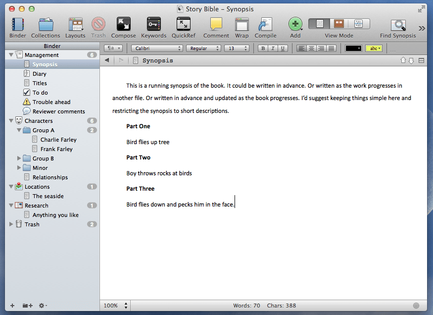 creating a series bible using scrivener writing tips writing