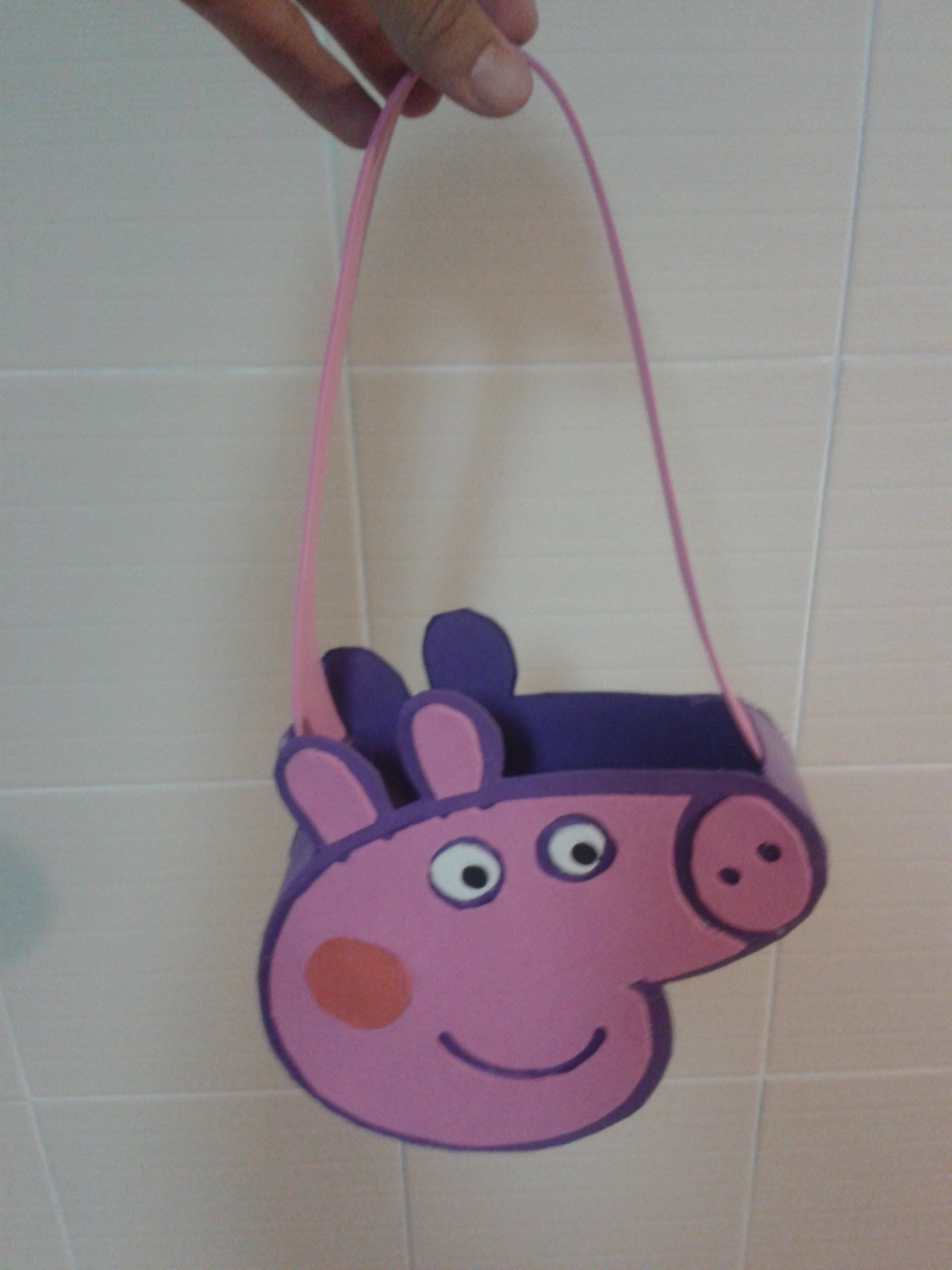 manualidades bolso dulcero peppa pig purse peppa pig de goma eva