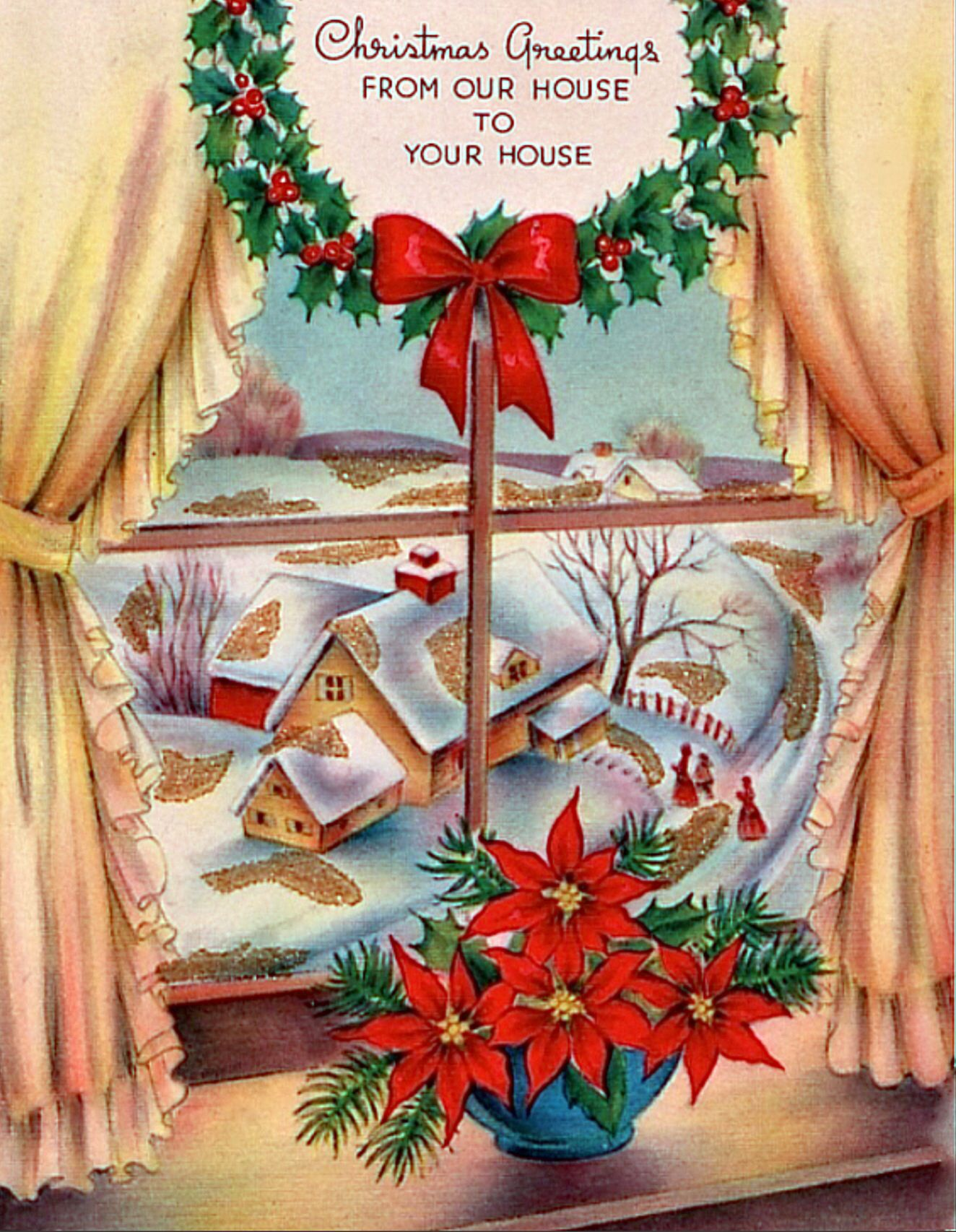 Wreath from old christmas cards - Christmas Card Jx 96