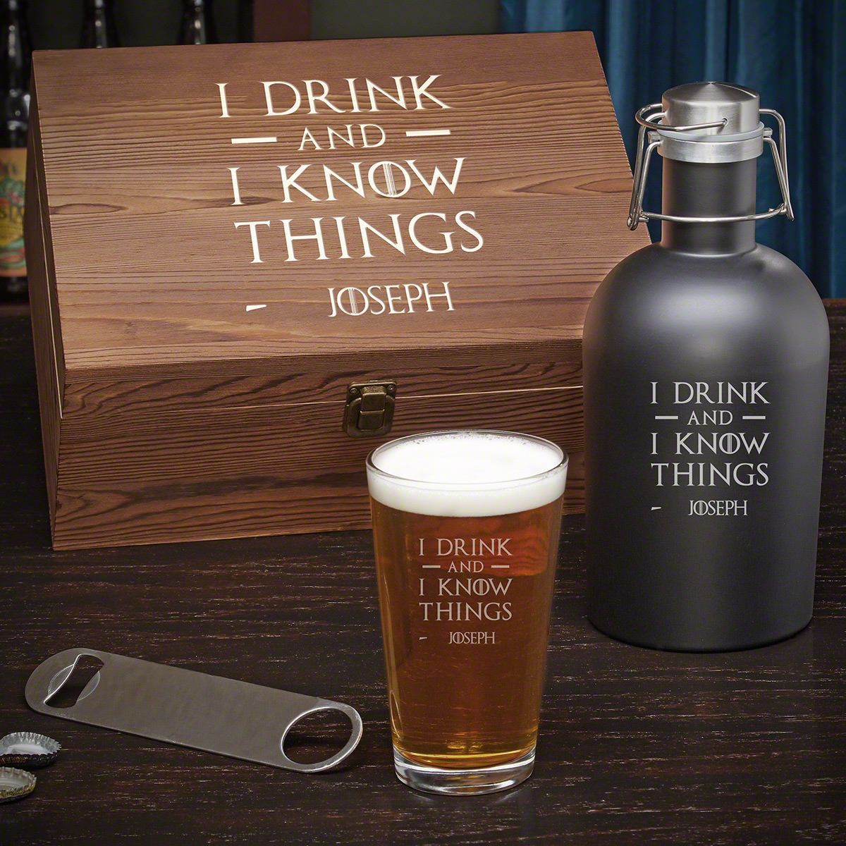 I Drink & I Know Things Custom Beer Gift Box Beer gift