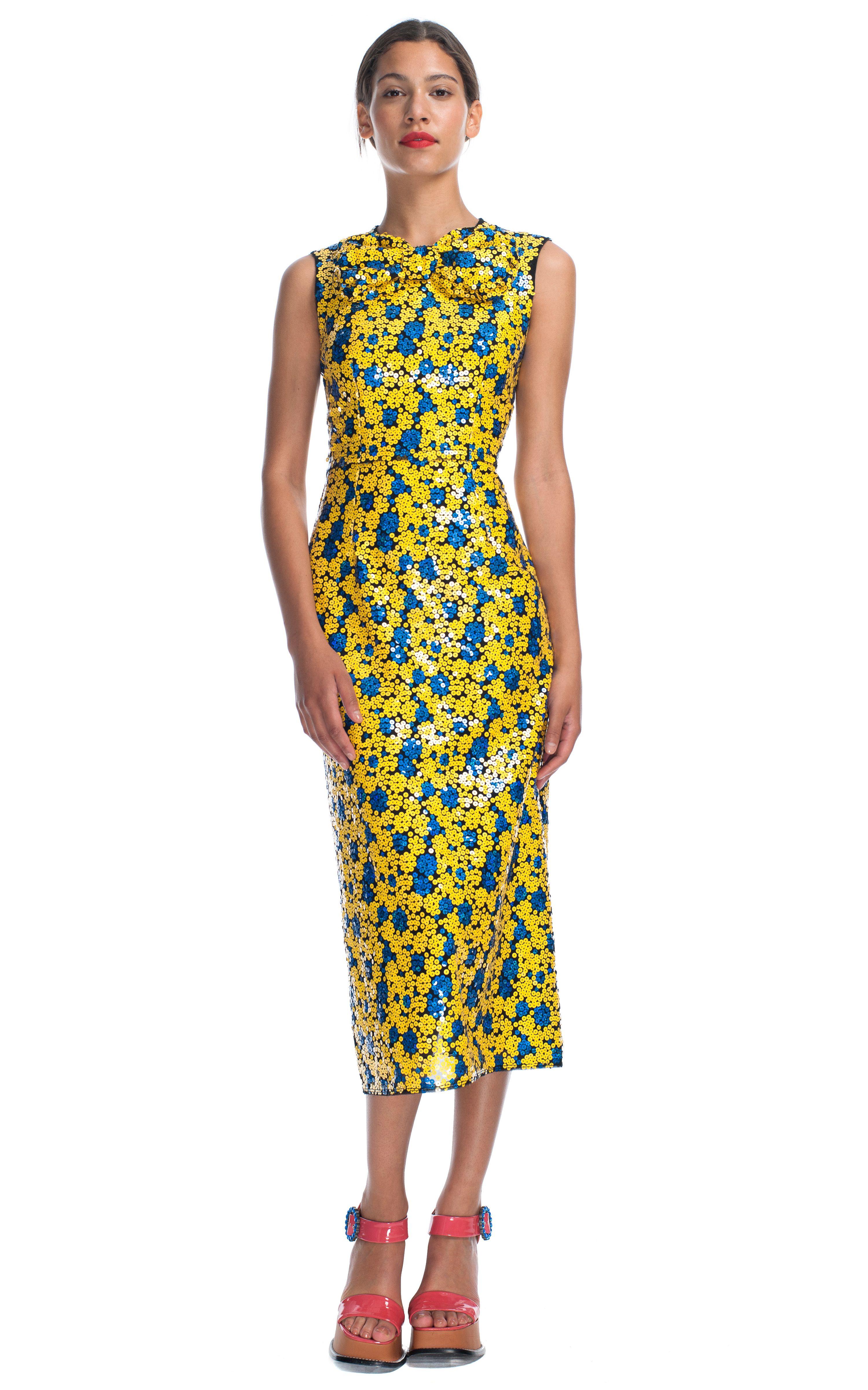Marc Jacobs Sequin Splash Bow Neck Sheath Dress via Operandi