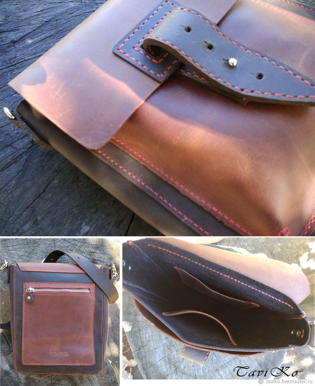 f05887f25bfd Купить Мужская кожаная сумка из кожи Крейзи Хорс - коричневый, коричневая  сумка, сумка кожаная
