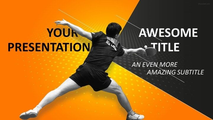 Sports - Table Tennis Powerpoint Template | Sports Powerpoint