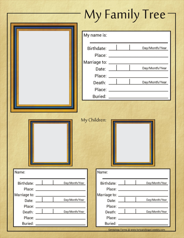 Custom Blank Forms for Genealogy Research #genealogy