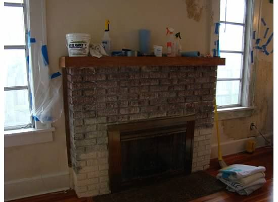 Removing Paint From Fireplace Brick Living Room