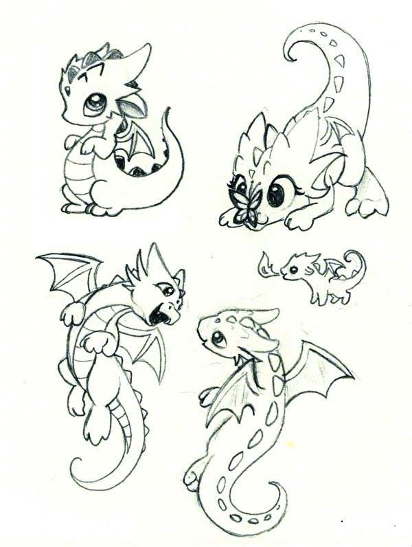 Baby Dragon Coloriage Dragon Dessin De Dragon Et Dessin