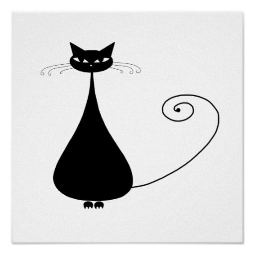 Black Whimsy Kitty 4 Poster | Posters, Canvas Prints ...