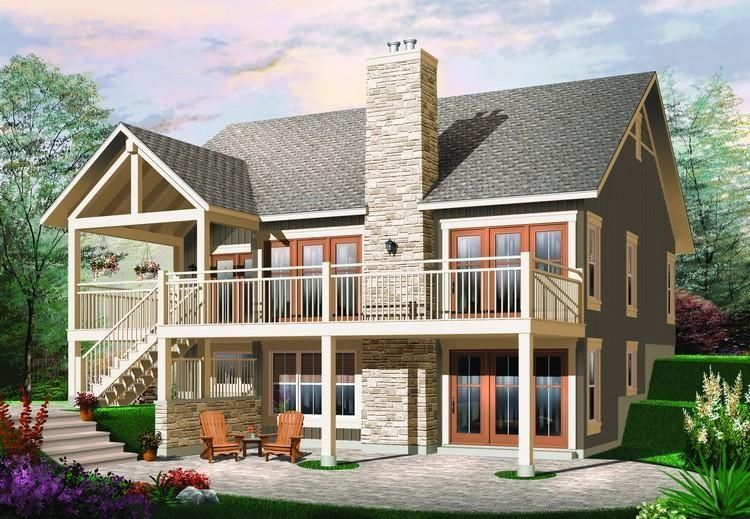 House Plan 034 00881 Country Plan 1 324 Square Feet 2 Bedrooms 1 Bathroom 1000 In 2020 Craftsman House Plans Cottage House Plans House Plans