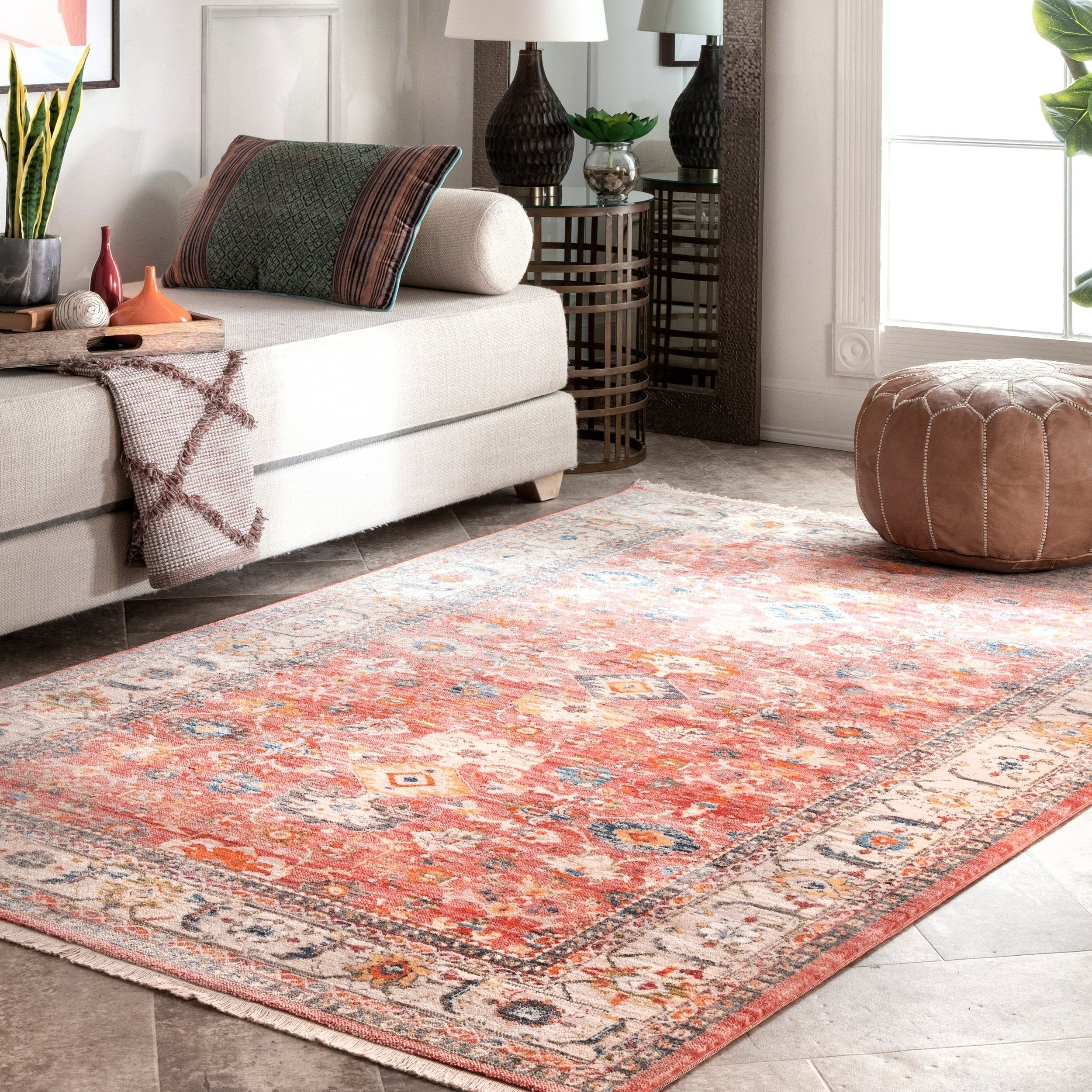 Nuloom Victorian Ombre Area Rug 6 7 X 9 4 Red Area Rugs