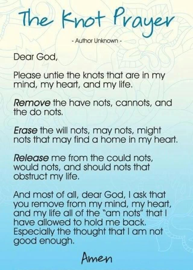 Unknown Prayer Quotes | FAITH IN PRAYER QUOTES | The Knot Prayer - Author Unknown
