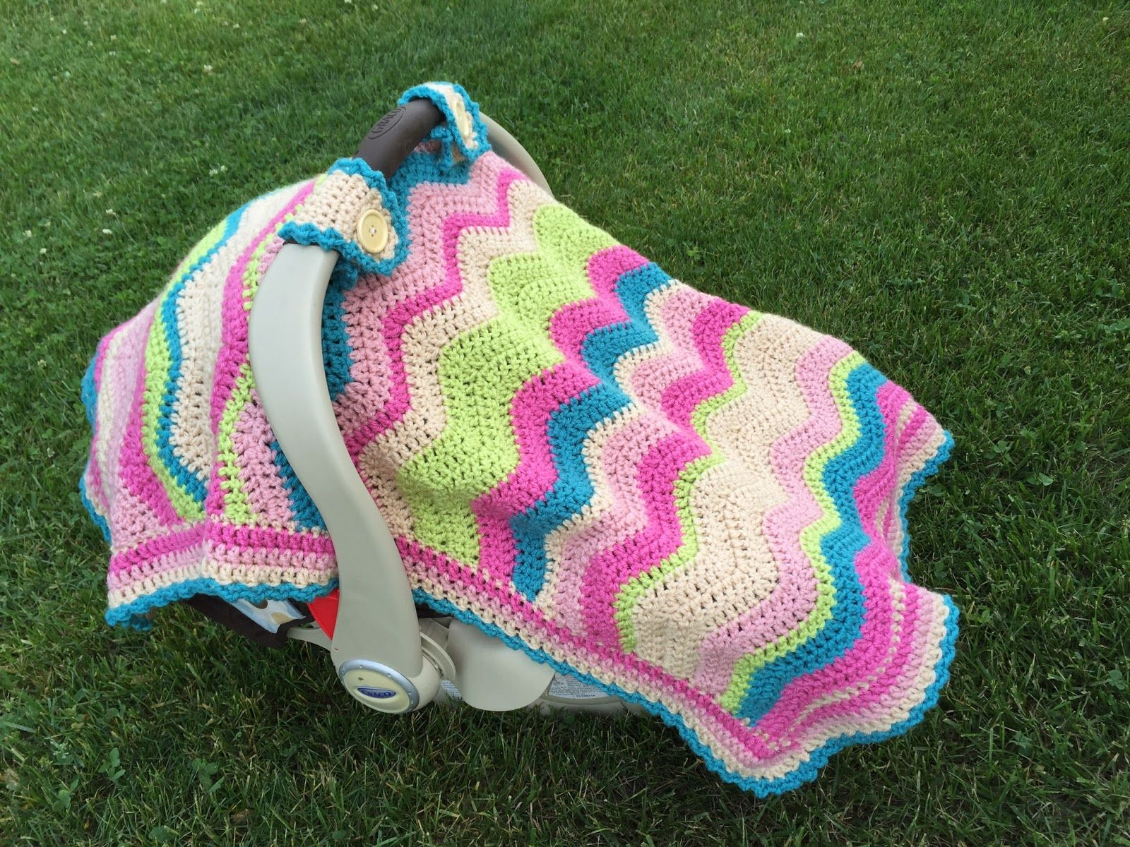 Crochet Baby Car Seat Cover with Pattern | Manta, Tejido y Bebe