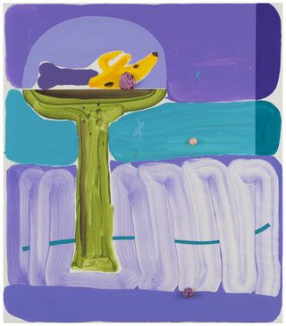 Jussi Goman: On a String, 2016, acrylic on canvas,  80x70 cm - Galerie Forsblom 2016