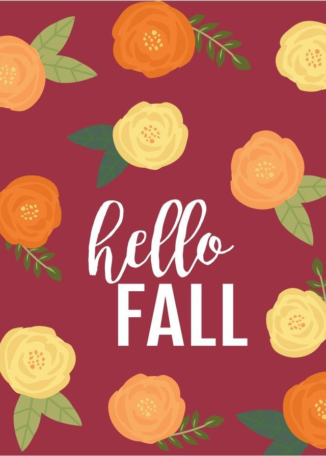 Hello Fall wallpaper for desktops, smartphones + Printable Fall - 2 X 4 Label Template 10 Per Sheet