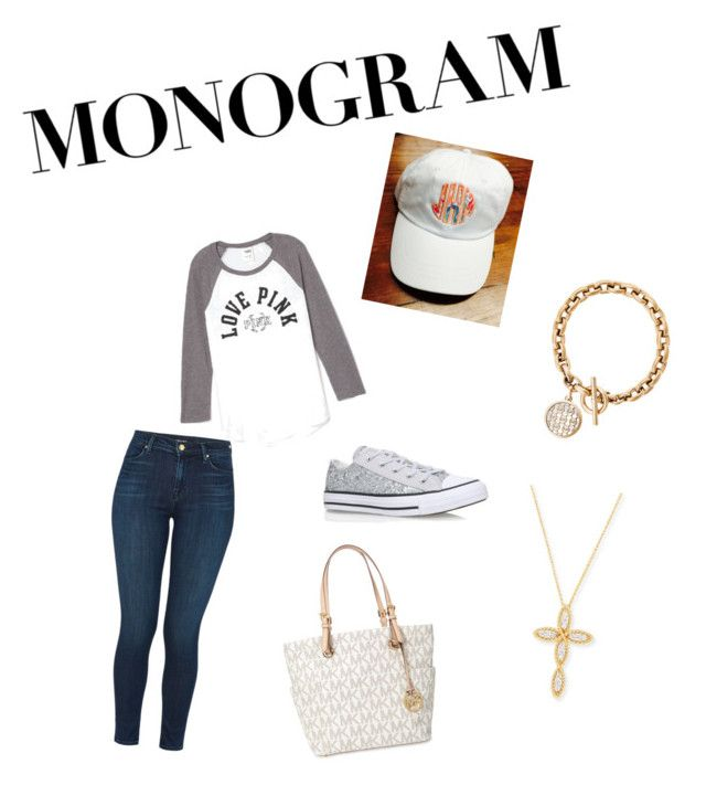 """Untitled #427"" by sparkle-pinkk on Polyvore featuring J Brand, Michael Kors, Victoria's Secret, Roberto Coin and Converse"