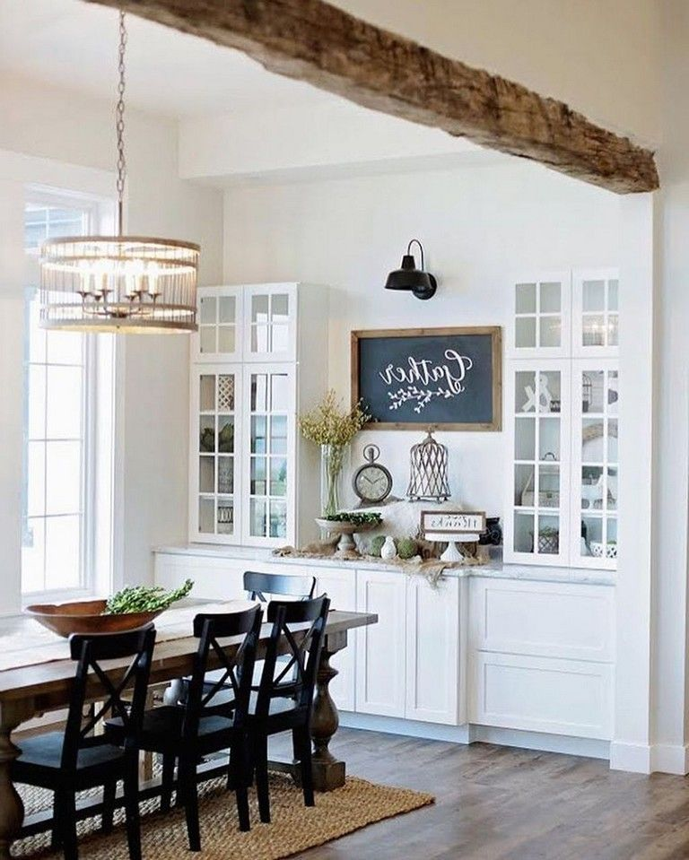 56 Incredible Rustic Kitchen Ideas Photos: 56+ Graceful Farmhouse Dining Room Table And Decorating
