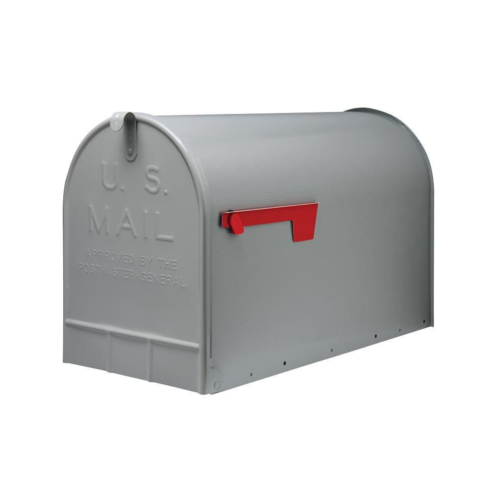 Gibraltar Mailboxes Stanley Extra Large Galvanized Steel Post