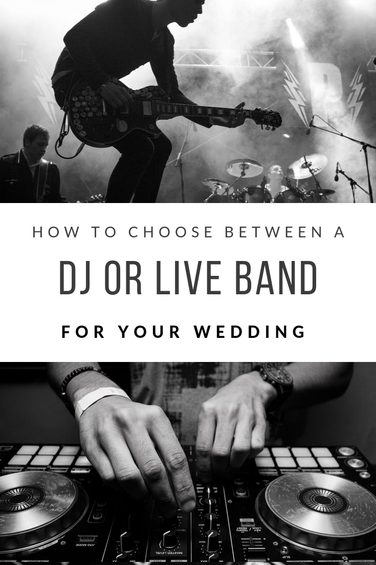 How to choose between a DJ or live band for your wedding