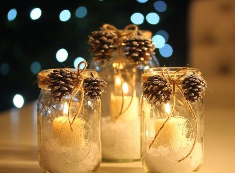 Dekorative Kristallgläser: 25 Ideen für Weihnachten - Dekoration ideen #weckgläserdekorieren
