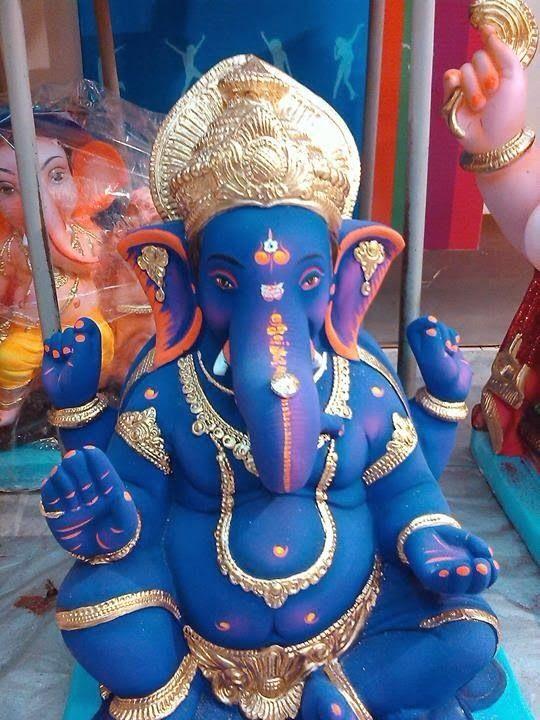 blue color ganesh ji image | Ganesha, Ganesh statue, Lord ganesha
