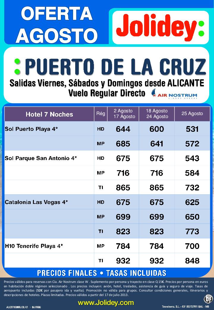 Puerto de la Cruz Agosto 7 Noches Salidas Alicante desde 531 Tax. incluidas - http://zocotours.com/puerto-de-la-cruz-agosto-7-noches-salidas-alicante-desde-531-tax-incluidas/
