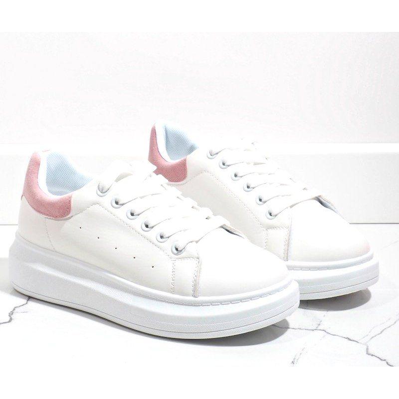 Biale Trampki Na Grubej Podeszwie 7935 Sp Rozowe Adidas Sneakers Sneakers Adidas Stan Smith