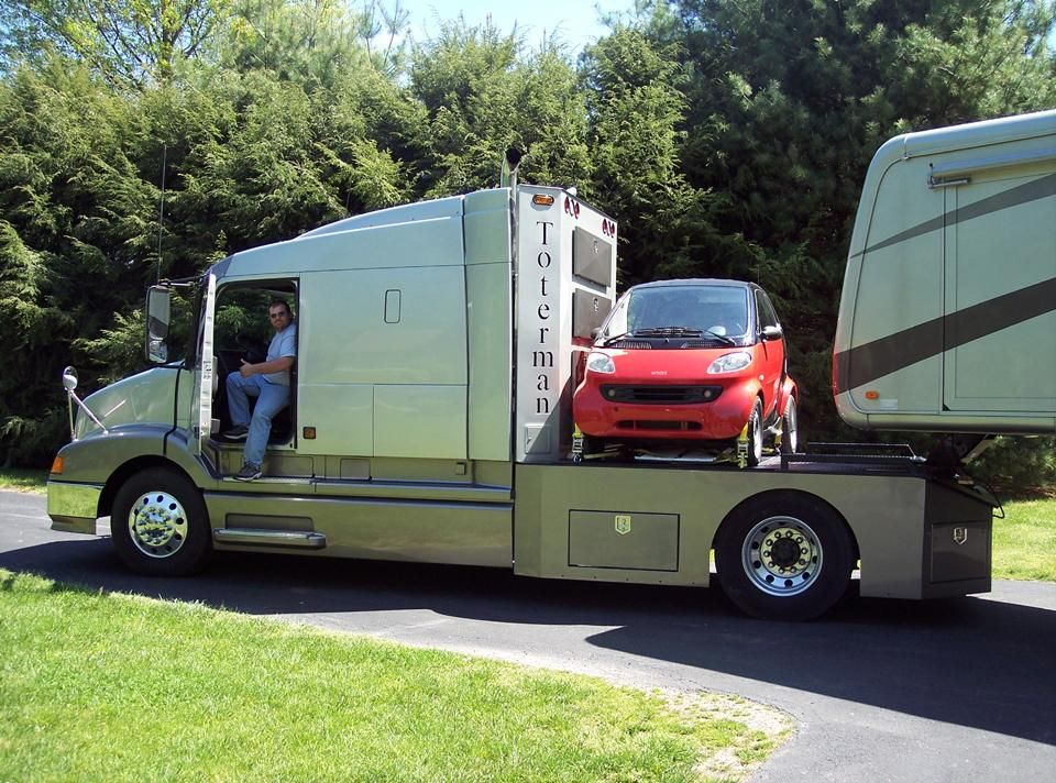 Awesome Towing Solution A Toterman Truck Motorhome Towing A Fifth