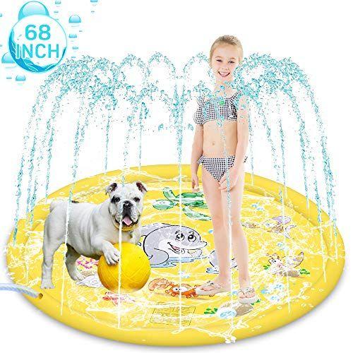 HeiYi Sprinkler for Kids Dogs, 68″ Inflatable Splash Pad ...