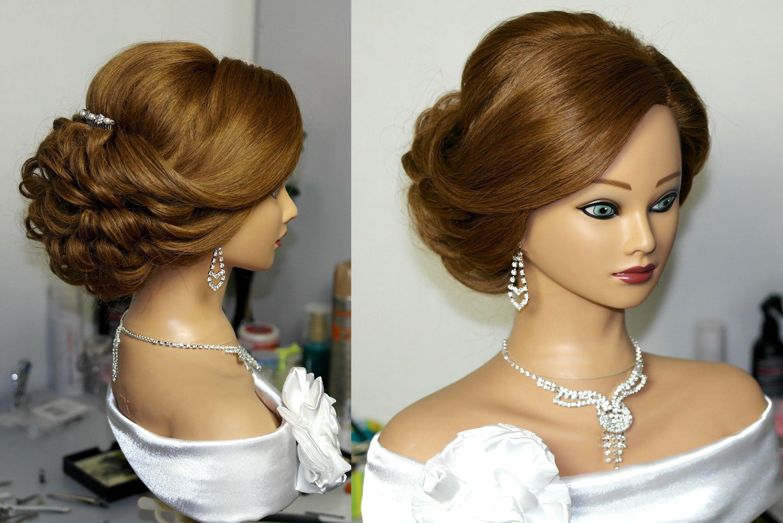 Bridal updo. Hairstyles for long medium hair. Свадебная прическа ...