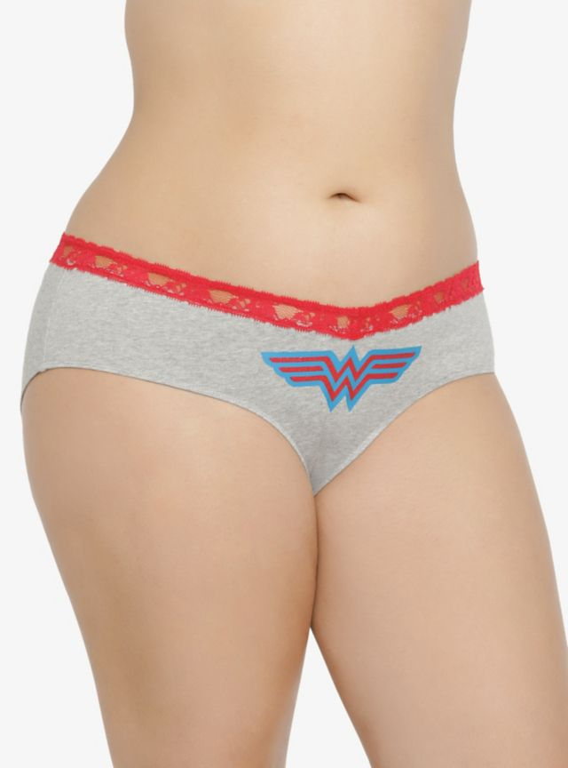 acde945f795 Feel like a super girl when you sport this Wonder Woman cotton hipster  panties. It s made from soft