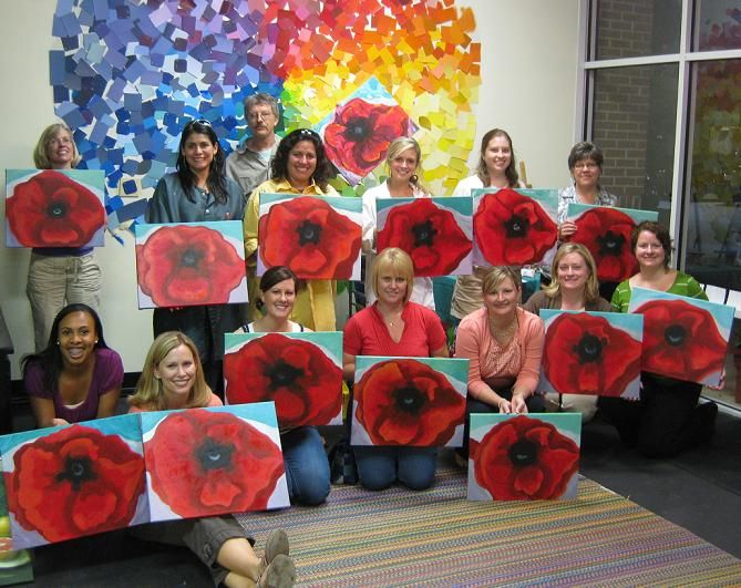 spirited art wine painting parties girls night out