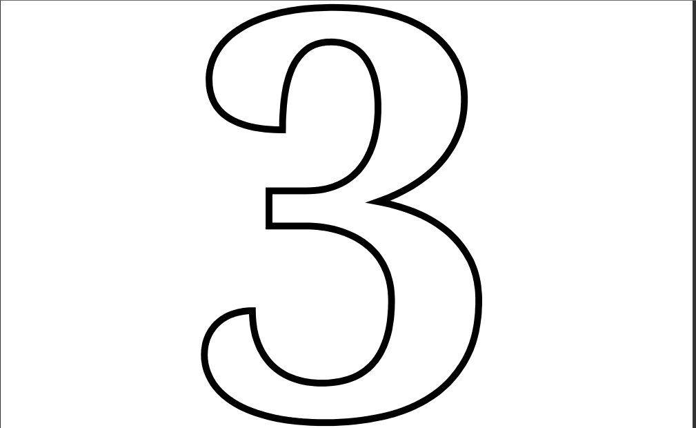 Printable Pdf Number 3 Coloring Page Printable Numbers Coloring
